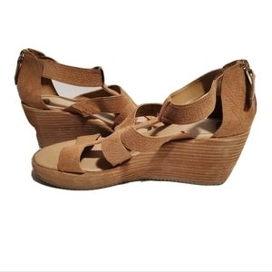 NEW Dr. Scholl's Later Brown Wedge Sandals
